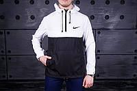 Куртка анорак Nike черно-белая