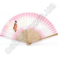 Японский веер «Гейша и сакура», фото 1