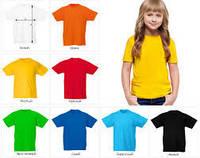 Детские однотонные футболки