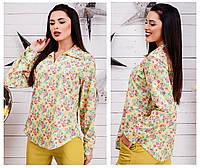 Шикарная блуза в цветочный принт