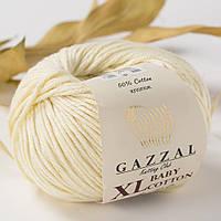 Пряжа Gazzal Baby Cotton XL Кремовый