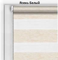 Готовые рулонные шторы День-Ночь Бамбук Ясень Белый
