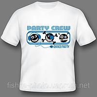 Печать фотографий на белых футболках