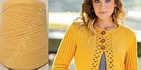 Италия  Papi Fabio меринос с кашемиром на шелке желтого цвета