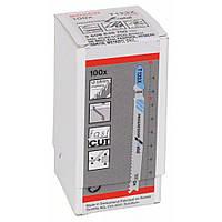 Пилки лобзиковые Bosch 100 шт Т 123 Х, HSS