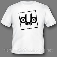 Печать логотипа на белых футболках