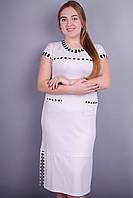Эрика. Женское платье больших размеров. Белый. 50