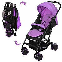 Детская прогулочная коляска книжка, фиолетовая (M 3428-9)