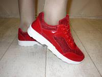 Кроссовки красные Т548, р 36,37,39,41