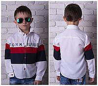 Модная рубашка на мальчика, 116 - 152 см. Детская, подростковая рубашка, коттон.