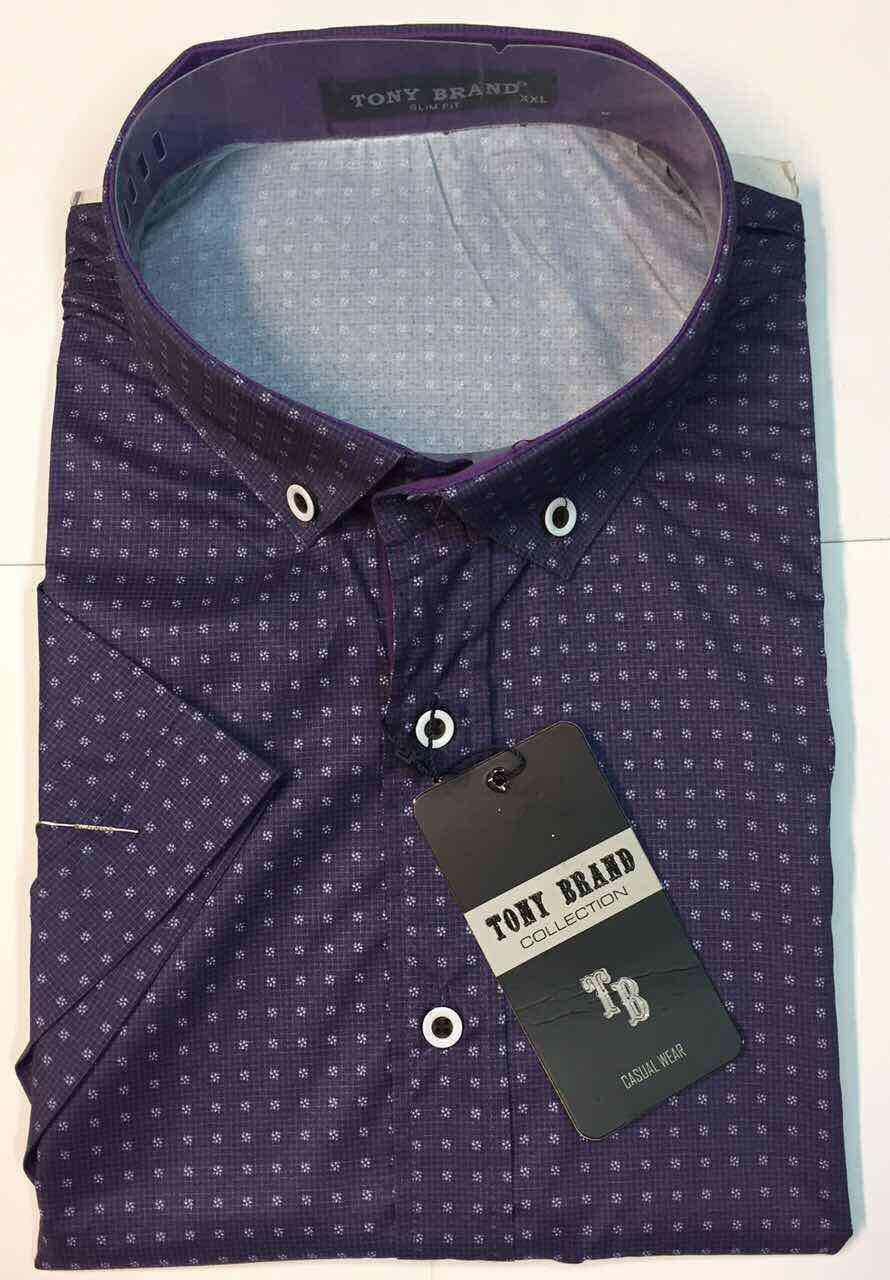 Рубашка мужская короткий рукав TONY  BREND