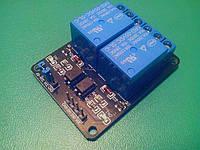 Релейный модуль 5В 2 канала Arduino, фото 1