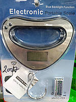 Весы electronic portable scale blue backlight function