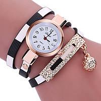 Модные оригинальные женские часы-браслет с подвеской, черные