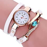 Модные оригинальные женские часы-браслет с подвеской, белые