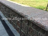 Облицовка парапетов, подпорных стенок гранитом