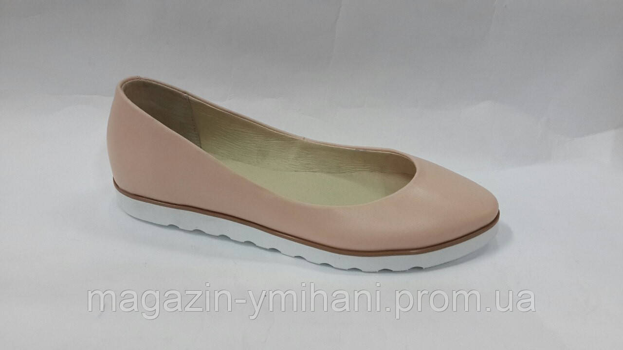922adf5a7d9b Женские кожаные балетки пудра. Украина - Интернет-магазин