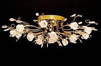Красивая потолочная люстра в золотом цвете 9996