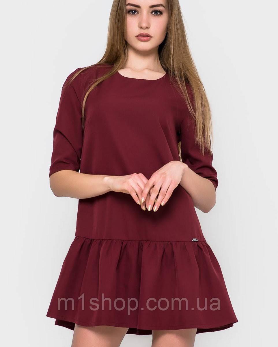Платья с воланами внизу - пышные юбки с воланами