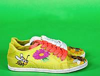 """Кеды """"Пчелка ложка"""" IK-107 (салатовый), фото 1"""