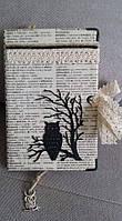 """Блокнот handmade """"Совы"""" с чехлом, фото 1"""