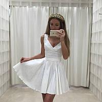 Платье Изольда верх без рукавов с V-образным вырезом горловины и свободной юбкой выше колена 79 ЛЯ Н 68