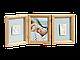 Набор для создания отпечатка ручки или ножки + фоторамка My Baby Touch Wooden Double Frame, Baby Art, фото 2