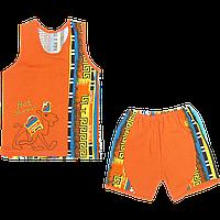 Детский летний костюмчик: майка и шортики, тонкий хлопок; ТМ Беби Арт, р. 98-104, Украина