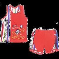 Костюмчик для мальчика: майка и шортики, кулир; ТМ Беби Арт, р.98, 110