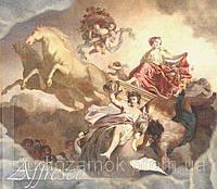 Имитация венецианской штукатурки с художественной росписью. Фреска на потолок артикул 9105