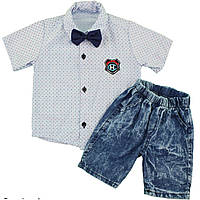 Костюм с рубашкой шортами для мальчика от 1 до 4 лет (5183-3)