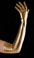 Перчатки вечерние золото-серебро