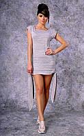 Женское трикотажное платье-туника Poliit №8357 (кофе с молоком)