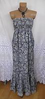Новое стильное платье с декором F&F хлопок M 46-48 С109N