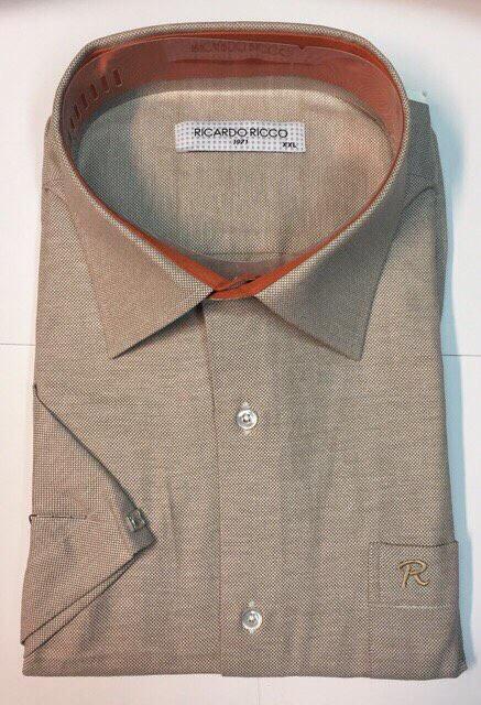 Рубашка мужская короткий рукав  Ricardo Ricco