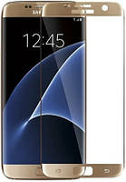 3D стекло Samsung s7 Edge, Gold