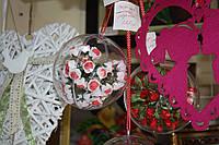 Шар  с розово-белыми розами