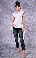 Женское трикотажное платье-туника Poliit №8357 (молочный)