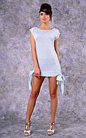 Женское трикотажное платье-туника Poliit №8357 (бледно-голубое)