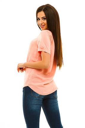 Блузка штапель 323 персик, фото 2