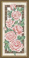 Схема для вышивки бисером Розы на бежевом