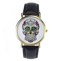 Модные оригинальные женские часы Skull, черные