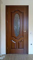 Виробництво дверей з масиву, класичні двері зі склом (модель 22))