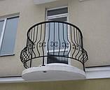 Простые кованые ограждения террас, балконов, беседок, фото 2