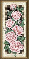 Схема для вышивки бисером Розы на черном