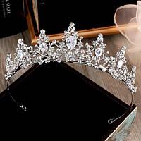Корона, диадема, тиара в серебре, высота 4 см., фото 1