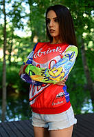 Женский свитшот с ярким принтом u-t6104587
