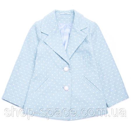 Пальто для девочки короткое Miracle Me (голубое)