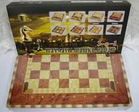 Шахматы нарды шашки деревянные настольная игра G07429-30