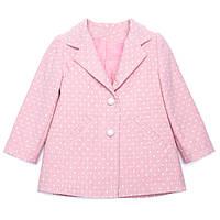 Пальто для девочки короткое Miracle Me (розовое)